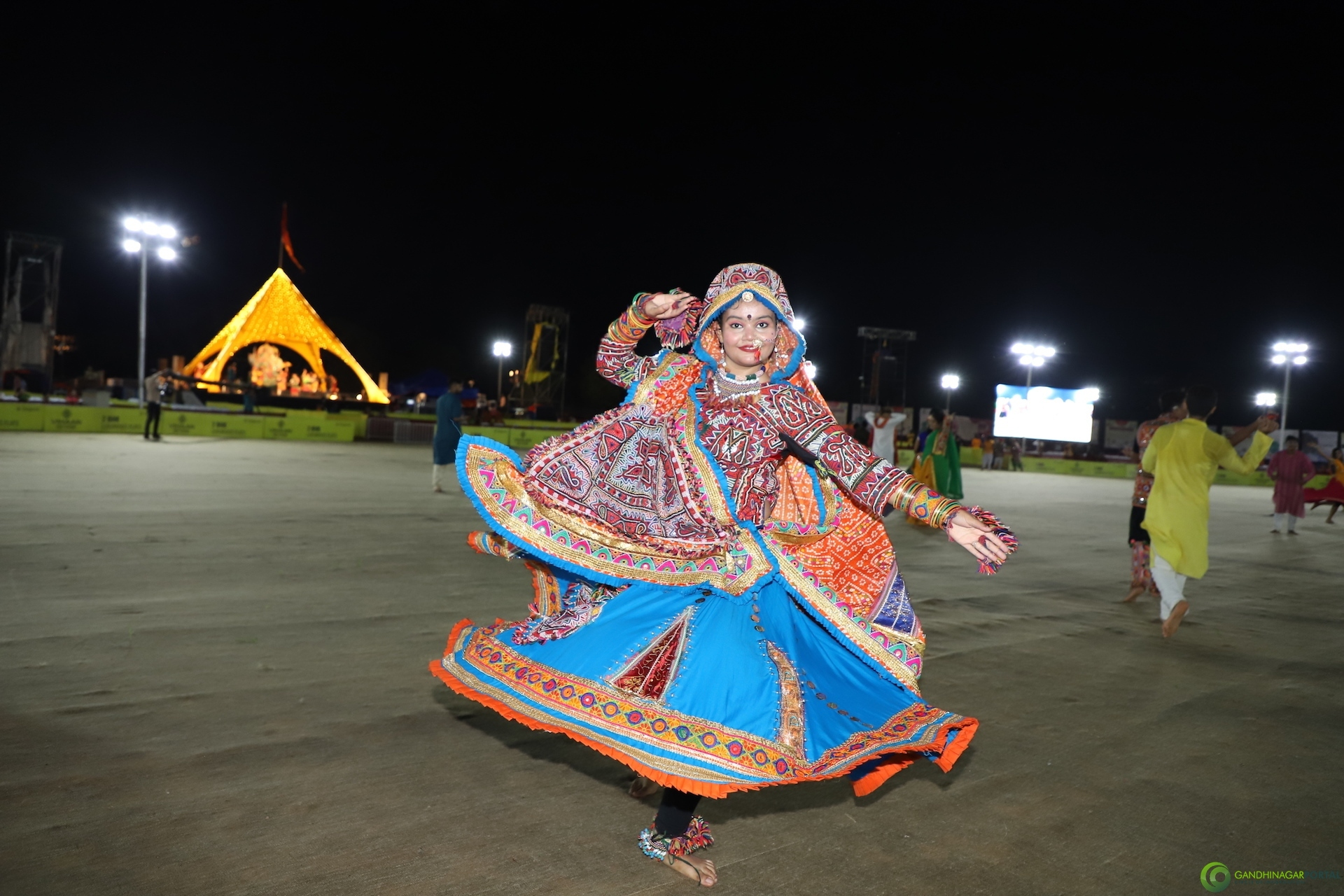 Live Images of Gandhinagar Culture Forum Navratri 2019 Day 1