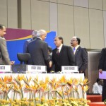 Mukesh Ambani with Foreign Delegate at 6th Vibrant Gujarat Global Summit 2013- Mahatma Mandir, Gandhinagar