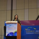 Chanda Kochar- ICICI Bank Ltd. (C.E.O) Speaks at Vibrant Gujarat Global Summit 2013- Mahatma Mandir, Gandhinagar