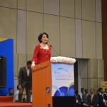 Renu Khator- University of Houston-Chancellor speaks at 6th Vibrant Gujarat Global Summit 2013- Mahatma Mandir, Gandhinagar