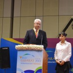 konstantin Markelov- Astrakhan Region speaks at 6th Vibrant Gujarat Global Summit 2013, Mahatma Mandir, Gandhinagar