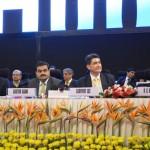 Gautam Adani, R.C.Bhargava, Geoffrey Lee and Mr. Sasaki at inauguration of 6th Vibrant Gujarat Global Summit 2013- Mahatma Mandir, Gandhinagar