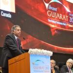 Shri Ratan Tata speaks at  Inaugural Ceremony of 6th Vibrant Gujarat Global Summit 2013- Mahatma Mandir, Gandhinagar