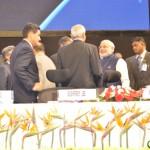 Shri Narendra Modi,congratulated at 6th Vibrant Gujarat Global Summit 2013- Mahatma Mandir, Gandhinagar