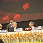 Shri Narendra Modi, Sewart Beck & Sir Ratan Tata at 6th Vibrant Gujarat Global Summit 2013- Mahatma Mandir, Gandhinagar