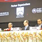 mSir Ratan Tata, James Bevan & Anil AMbani at 6th Vibrant Gujarat Global Summit 2013- Mahatma Mandir, Gandhinagar