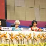 Patricia Hewitt & Renu Khator at 6th Vibrant Gujarat Global Summit 2013- Mahatma Mandir, Gandhinagar