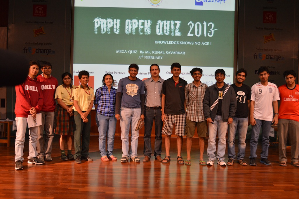 PDPU Open Quiz 2013 Gandhinagar Main Event Day-2