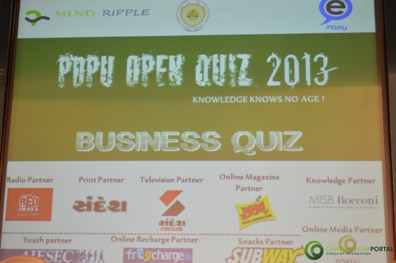 PDPU Open Quiz 2013 Gandhinagar Main Event Day-1