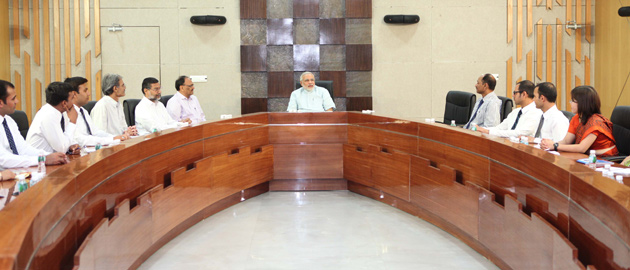CM meets Officers of Indian Forest Service in Gandhinagar
