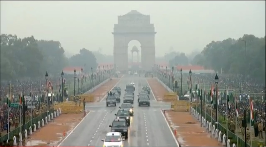 The Republic Day Parade with Prime Minister Narendra Modi and US President Barrack Obama.- LIVE from Delhi
