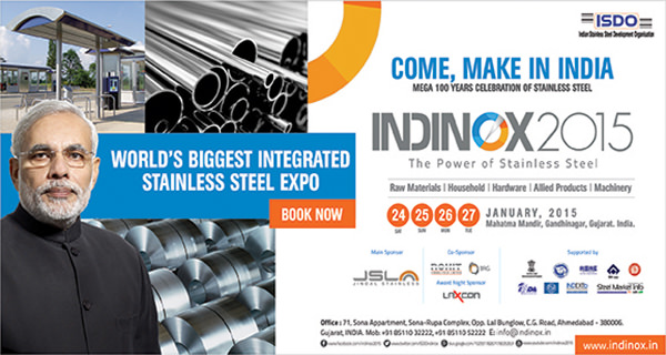 INDINOX 2015 – THE BIGGEST STAINLESS STEEL EXPO