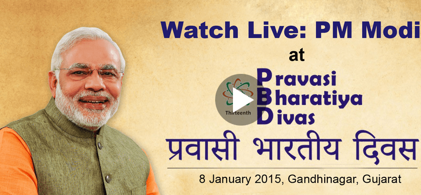Watch Live : PM Shri Narenda Modi at Pravasi Bharatiya Divas 2015