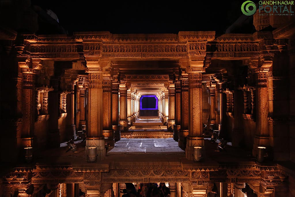 Adalaj Step Well – Night View